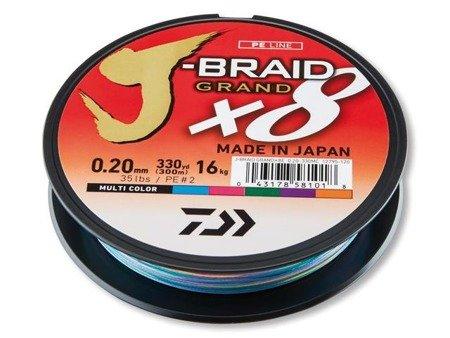 Plecionka Daiwa J-BRAID GRAND X8 0.18MM / 150M / MC