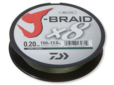 Plecionka Daiwa J-BRAID X8 0.13MM / 150M / DG