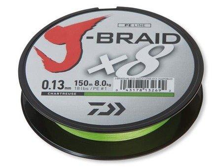 Plecionka Daiwa J-BRAID X8 0.18MM / 150M / CH