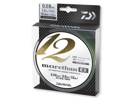 Plecionka Daiwa MORETHAN 12 BRAID EX+SI 0.12MM / 135M / LG