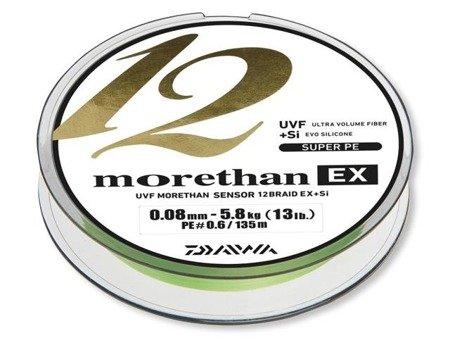 Plecionka Daiwa MORETHAN 12 BRAID EX+SI 0.16MM / 135M  / LG